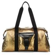 Alexander McQueen Foiled Leather Gym Bag