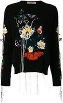Piccione Piccione Piccione.Piccione embroidered sweater dress