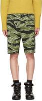 Wacko Maria Green Jungle Army Shorts