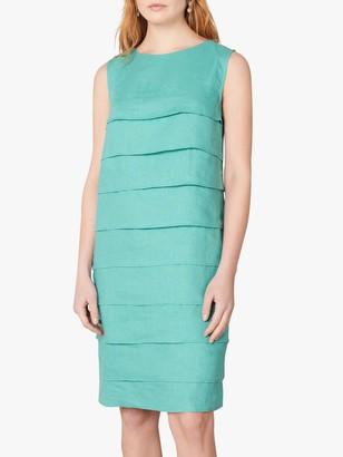 Jaeger Layered Linen Dress, Green
