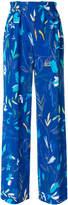 Agnona floral print wide-leg trousers