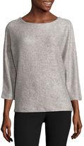 WORTHINGTON Worthington 3/4 Sleeve Scoop Neck Pullover Sweater