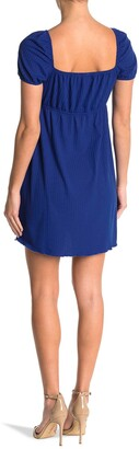 Luna Chix Short Sleeve Ribbed Shift Dress
