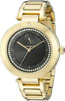 Vestal Women's RSE3M002 The Rose Analog Display Quartz Gold Watch