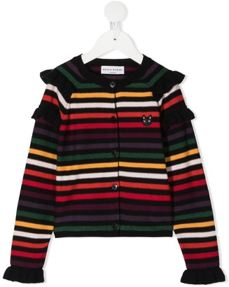 Sonia Rykiel Enfant Striped Knit Cardigan
