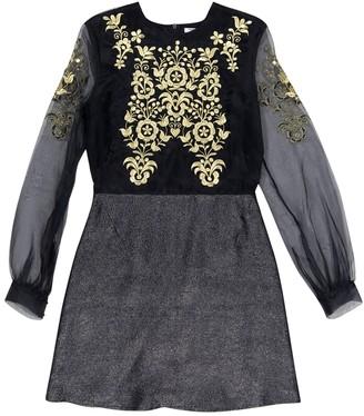 Vilshenko Navy Silk Dresses