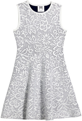 Milly Girl's Floral Pointelle Knit Fit-&-Flare Dress, Size 7-16