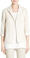 Lafayette 148 New York Women's Ramira Fringe Knit Jacket