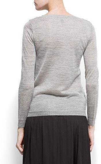 MANGO Sequins wool jumper