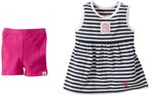 Burt's Bees Baby Classic Striped Tank Top Set (Baby) - Hibiscus-0-3 Months