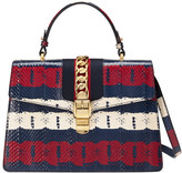 Gucci Sylvie printed snakeskin top handle bag