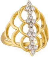 Jude Frances Moroccan 18k Diamond Center Ring, Size 6.5