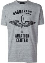 DSQUARED2 'Aviation Centre' print T-shirt