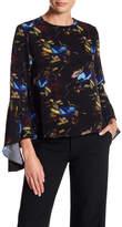 Adrienne Vittadini Button Back Bell Sleeve Blouse