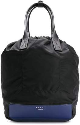 Marni top-handle drawstring backpack