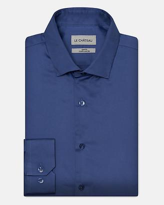 Le Château Stretch Cotton Sateen Slim Fit Shirt