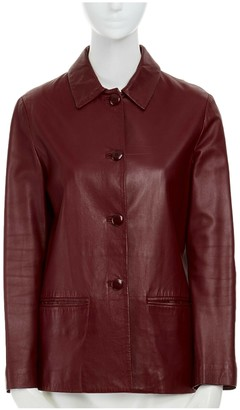 Salvatore Ferragamo Red Leather Jackets