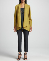 Eileen Fisher Washable Crepe Slim Ankle Pants, Women's