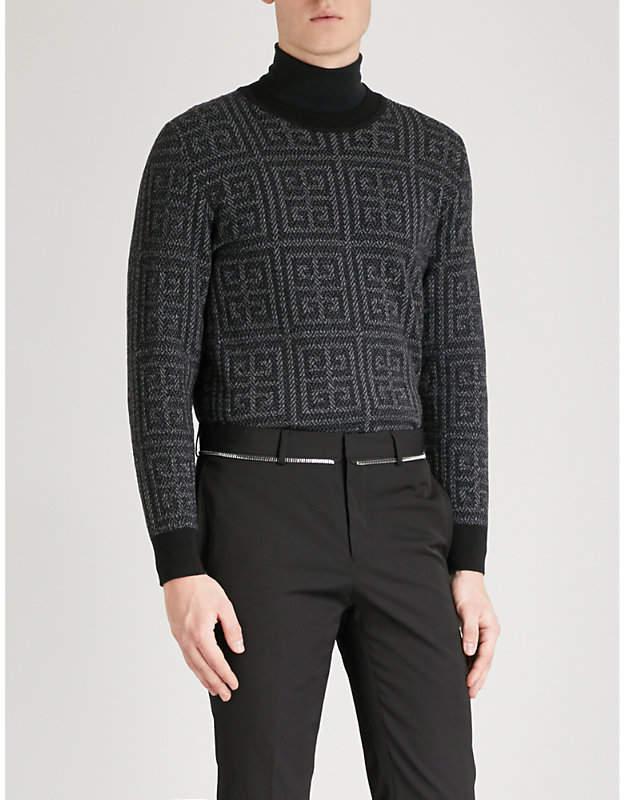 Givenchy Monogram-jacquard wool jumper