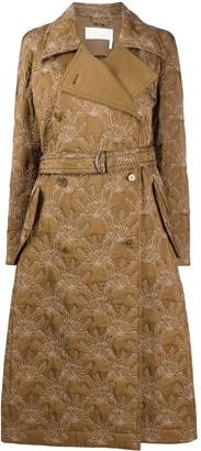 Chloé floral pattern belted coat