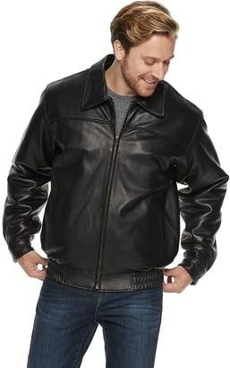 Men's Vintage Leather Lambskin Bomber Jacket