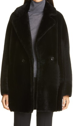 Max Mara Murano Genuine Shearling Coat