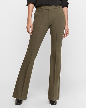 Express High Waisted Pintuck Flare Pant