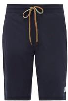 Paul Smith - Striped Drawstring Cotton Jersey Pyjama Shorts - Mens - Navy