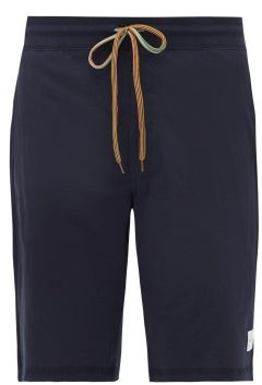 Paul Smith Striped-drawstring Cotton-jersey Pyjama Shorts - Navy