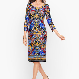 Talbots Jersey Paisley Shift Dress