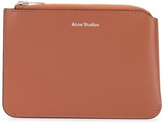 Acne Studios Top-Zip Leather Wallet