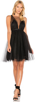 No.21 No. 21 V Neck Fit & Flare Dress