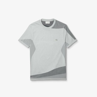 Lacoste Mens Motion Slim Fit Mixed-Stitch T-shirt