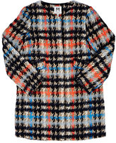 Milly PLAID TWEED COLLARLESS COAT
