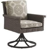 Tommy Bahama Olive Swivel Rocker Patio Chair with Sunbrella Cushion Outdoor