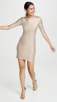 Alice + Olivia Delora Fitted Crew Neck Dress