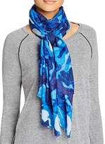 Aqua Brushstroke Rose Scarf - 100% Exclusive