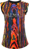 Balmain logo print T-shirt - women - Cotton - 38