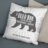 The Drifting Bear Co. 'A Bear Hug From' Personalised Locations Cushion