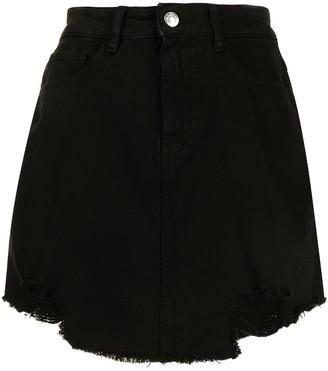 IRO Ripped Hem Denim Skirt
