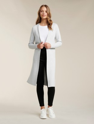 Forever New Karley Clean Hooded Cardigan - Iced Grey - m
