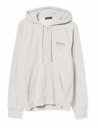 Emporio Armani Men's Thin Eagle Hooded/Zipup Sweater
