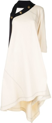 Monse Sail Print Asymmetrical Canvas Dress