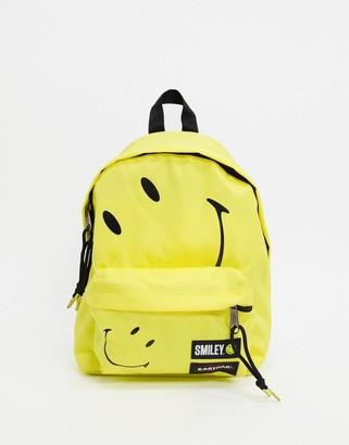 Eastpak x Smiley Orbit backpack in yellow