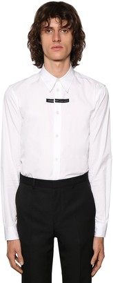 Givenchy Cotton Poplin Shirt W/Logo Detail