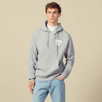 Sandro Cotton Hoodie With Peace Patch