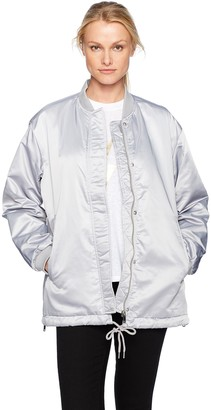 French Connection Women's Adell Quilt Silver Jacket