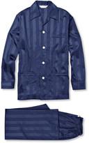 Derek Rose Lingfield Striped Cotton Pyjama Set