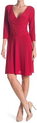 Tash + Sophie Long Sleeve Wrap Dress