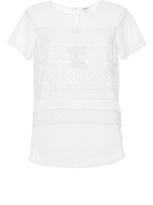Blugirl Short Sleeve Lace Blouse